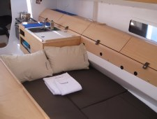Pogo 12.50 Kitchen and Double sliding bed