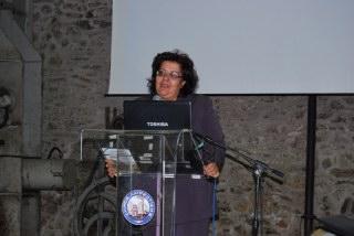 Η κ. Ζερβάκη, εκπρόσωπος του Περιφερειάρχη Αττικής, κ. Σγουρού