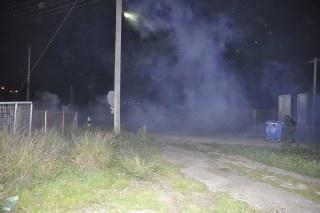 Σε όλη την πόλη επικρατεί αποπνικτική ατμόσφαιρα εξαιτίας των χημικών