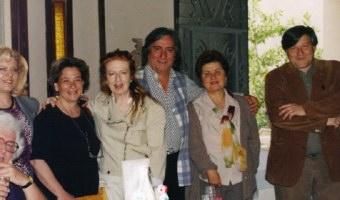 Ομάδα λογοτεχνών της Ε.ΠΟ.Σ. την ημέρα των εκλογών στο Ευρωπαϊκό Κέντρο Τέχνης
