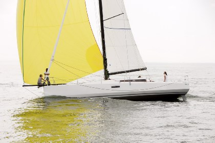 Pogo 12.50 Cruising relaxed cruising sitting on bowsprit © Andreas Lindlahr