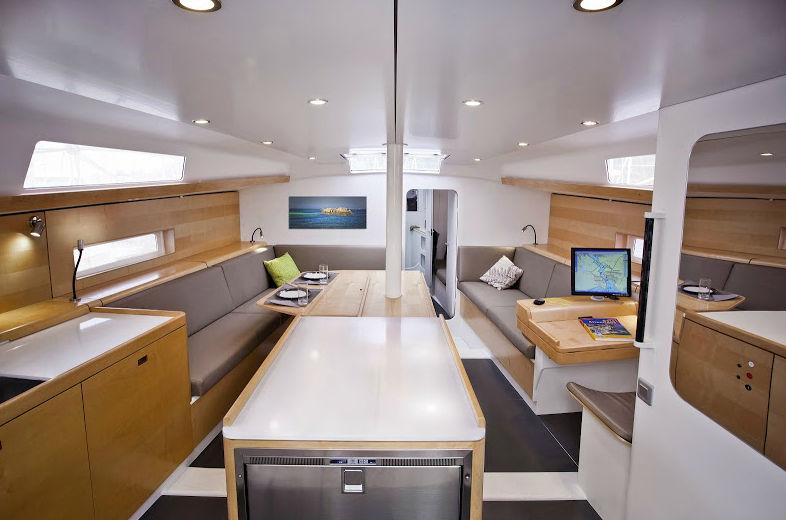 Pogo50 interior - Fastsailing